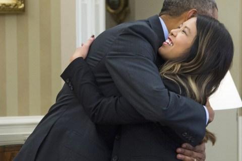 Ebola Free: Obama Hugs Recovered Nurse at White House