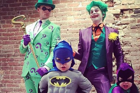 Neil Patrick Harris and Gotham City Family Do Halloween Right