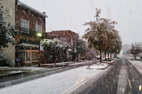 Snow Blankets Parts of South as Winter Weather Arrives Early