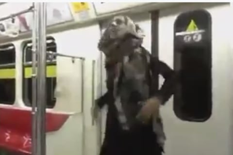 Watch This Iranian Woman Dance on Tehran's Subway
