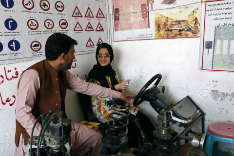 Behind the Wheel: Afghans Learn to Drive in Kabul