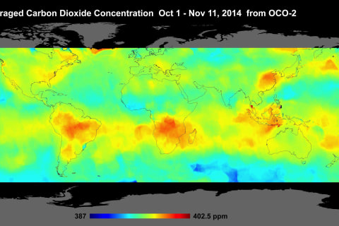 NASA Satellite's 1st Carbon Dioxide Maps of Earth Revealed