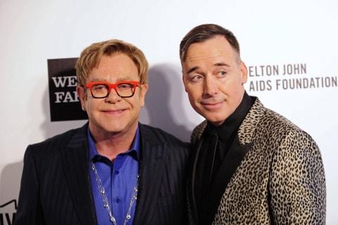 Elton John Marries Partner David Furnish in Britain