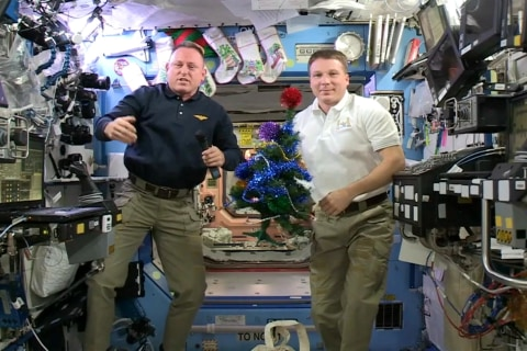 Joy to the World! Space Station Crew Offers Christmas Greetings to Earth