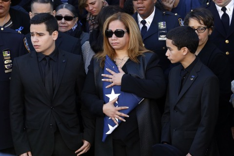 Thousands Attend Funeral of Slain NYPD Officer Rafael Ramos