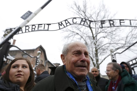 Auschwitz Concentration Camp Survivors Return to Mark Anniversary