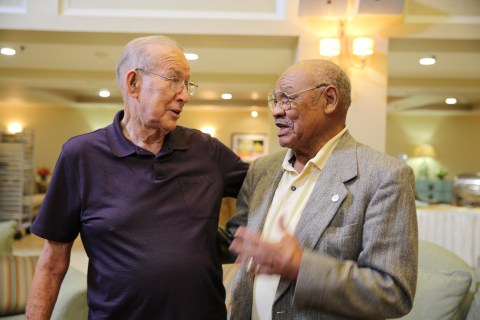First Black NFL Draftee George Taliaferro Reunites With High School Rival