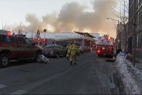 Smoky 7-Alarm Blaze Tears Through Brooklyn Warehouse