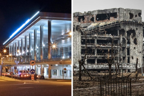 Once Gleaming Donetsk Airport in Ukraine Is Now Battered Husk