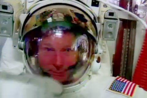 NASA 'Cable Guys' Take On ISS Spacewalk After Helmet Scare