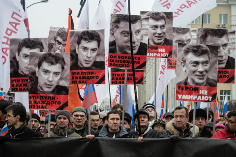Boris Nemtsov Murder: Moscow March Honors Slain Putin Critic