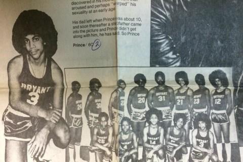 Prince's Junior High Basketball Photo is Vintage Prince