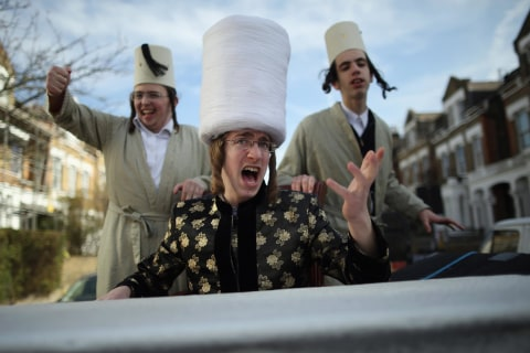 Purim Festival Brings Out Colorful Costumes