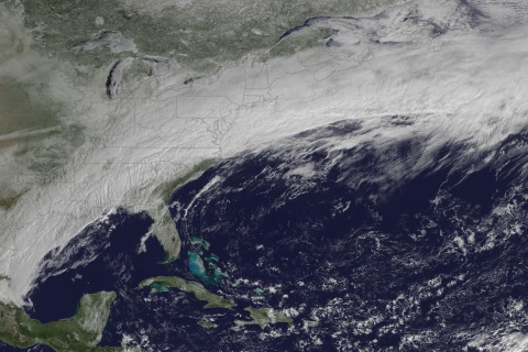 NOAA Satellite Watches Vast Winter Storm on the March
