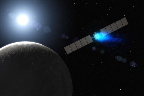 Dawn Spacecraft Slips Quietly Into Orbit Around Dwarf Planet Ceres