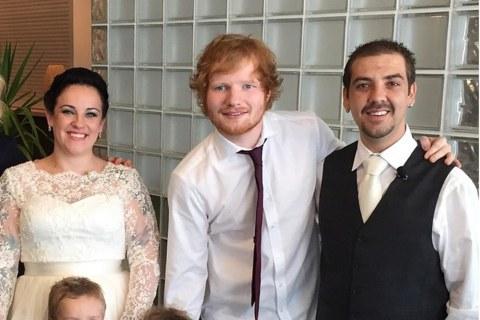 Ed Sheeran Surprises Couple With Wedding Serenade