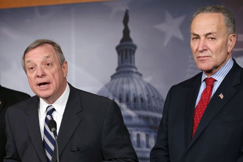 Senators Durbin and Schumer's Offices Feud Over Whip Endorsement