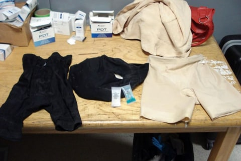 Four Pounds of Cocaine Found in Girdle, Underwear