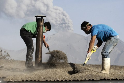 Chileans Dig Out After Volcano's Dramatic Eruption