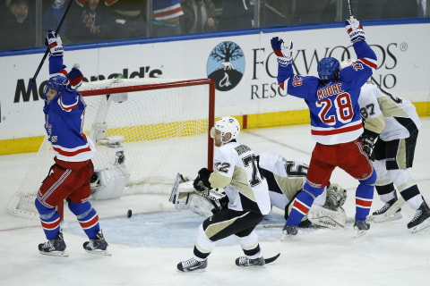 Hagelin Scores in OT as Rangers Eliminate Penguins to Advance