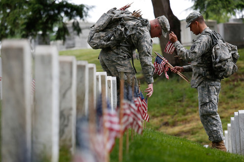 Flags In: Soldiers Prepare Arlington Cemetery for Memorial Day