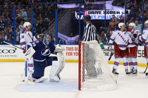 Nash, St. Louis Lead Rangers to Series tie With Lightning