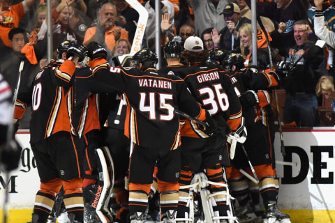 Ducks Defeat 'Hawks, Move One Win From Cup Final