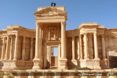 ISIS Flag Flies Over Palmyra's Ancient Ruins in Syria