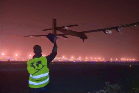 Solar Impulse Plane Takes Off on Six-Day, Sun-Powered Pacific Marathon