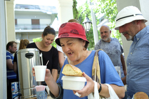 Greece Debt Crisis: Americans Help at Soup Kitchen Serving Retirees