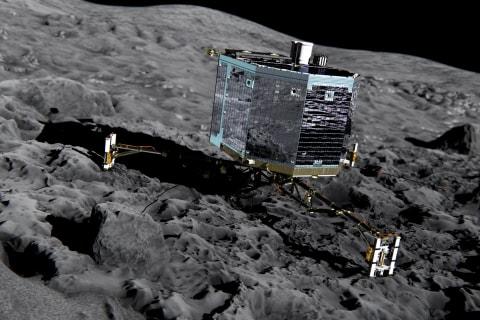 Rosetta's Missing Philae Probe Found in Dark Crack on Comet