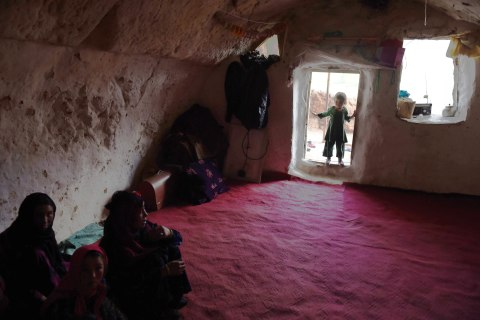 Afghan Families Find Refuge in Man-made Caves