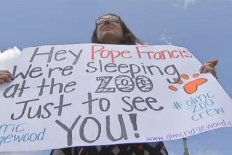 Catholic Flock to Sleep in Zoo During U.S. Papal Visit