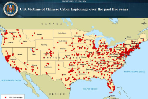Exclusive: Secret NSA Map Shows China Cyber Attacks on U.S. Targets