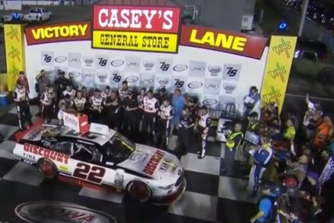 Ryan Blaney Wins NASCAR Xfinity Race at Iowa on GWC Finish