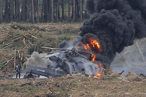 Helicopter Crash at Russian Air Show Kills Pilot