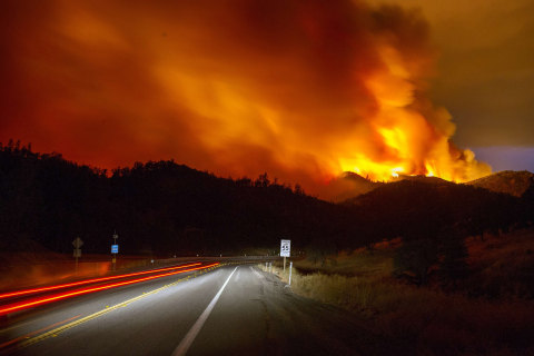 Enormous Rocky Fire Blazes Through California
