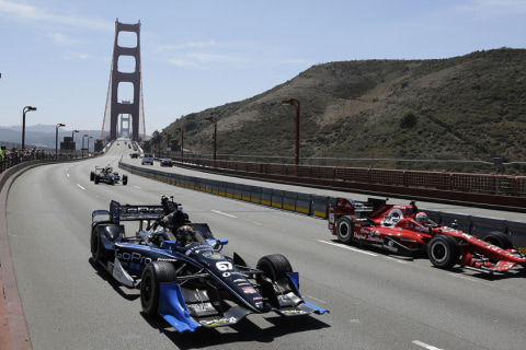 IndyCar Drivers Honor Fallen Comrade on Golden Gate Bridge
