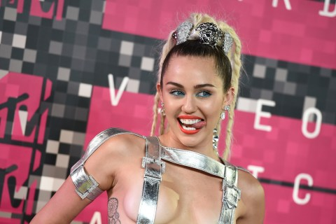 See Miley Cyrus' First Wild Outfit of the MTV Video Music Awards