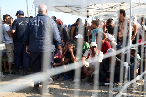 Europe Border Crisis: Order Reigns as Migrants and Refugees Reach Macedonia-Greece Border