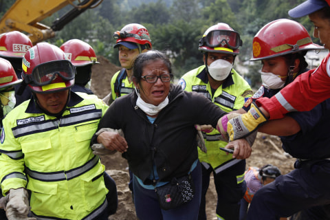 At Least 73 Dead in Guatemala Mudslide, Hundreds