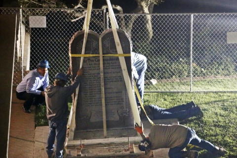 Oklahoma Removes Ten Commandments Monument Under Court Order