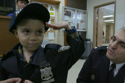 What One 7-Year-Old Boy Does to Show His Gratitude to Cops