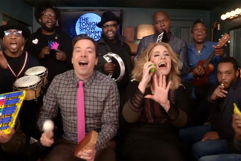 Adele Performs 'Hello' on Fallon With School Instruments