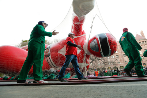 Pomp and Color Fill NYC Streets During Thanksgiving Parade Prep