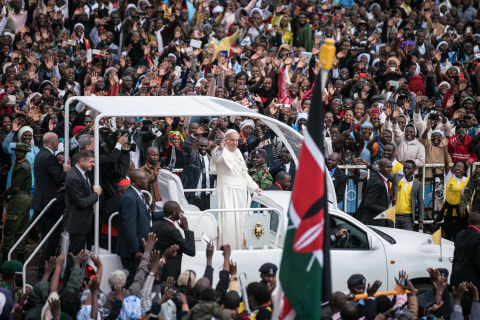 Thousands Brave Heavy Downpour to Attend Kenyan Papal Mass