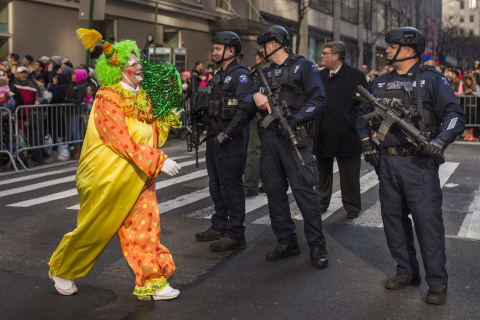 Cartoons, Cops and Clowns at the Macy's Thanksgiving Day Parade