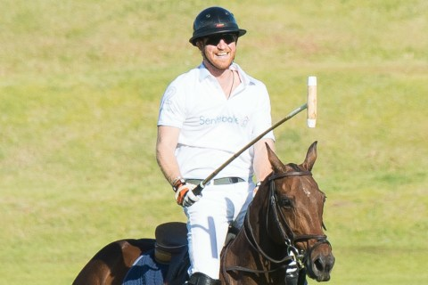 Royal Spill! Prince Harry Falls Off Pony During Polo Match - Twice