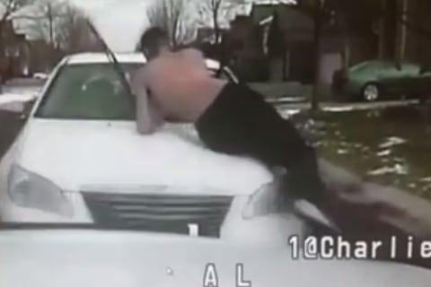 Michigan Man Flies Off Car Hood When It Rams Police Cruiser — on Video