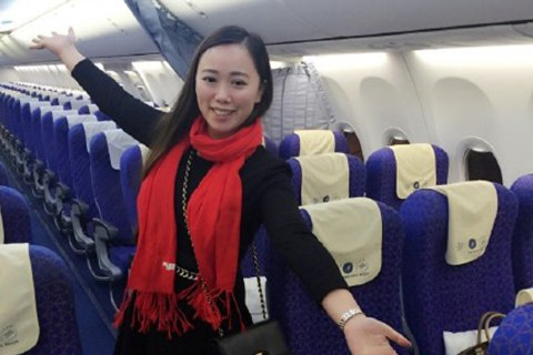 Legroom Galore? Chinese Woman Is Solo Passenger